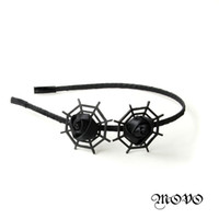 Wholesale Black handmade rose bowknot hair hoop tire fashion jewelry