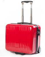 Wholesale Luggage Pull Rod Case Rolling new arrivals good quality ABS PC made MIC colour TSA lock red