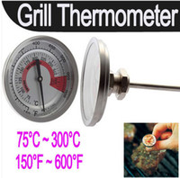 Wholesale Weber Barbecue BBQ Charcoal Pit Grill Thermometer Wood Smoker Temperature Gauge