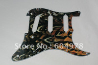 Wholesale Set Of S S S Guitar Pickguard Feather pattern For Strat Guitar