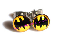 Wholesale Batman Earring Stud Ear Ring Nail Popular Men s Jewelry Cool Hot Sale Body Piercing USA Oil Design