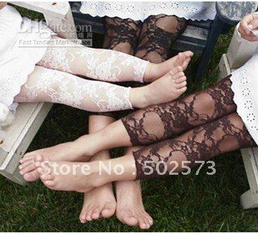 Wholesale Baby Lace Leggings Flower Floral Prints Leggings Girl Lace Leggings Pink White Black Hot Pink 60PCS/