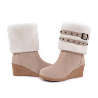 Wholesale 4color Fashion Women Dual purpose boots Winter Warm Snow Boots Shoe full size hujhujv