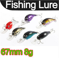 Wholesale 67mm g Biomimetic Sinking Fishing Bass Lure Crankbait Tackle Hook Crank Bait