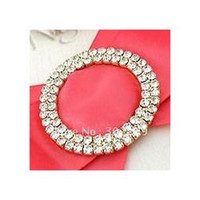 Wholesale Round Crystal Rhinestone Buckle in Gold Rows mm wedding