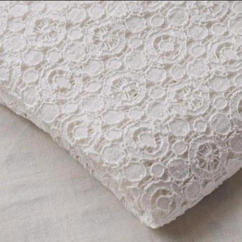Buy online printed beaded lace fabric