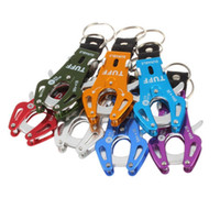 Wholesale Fashion Colorful Durable Tiger Carabiner Clip Climb Hook Lock Keyring Keychain