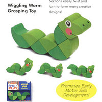 Wholesale Hot sale Melissa Doug Wiggling Worm Snake Grasping Educational Toys Activities Hands Xmas Gifts