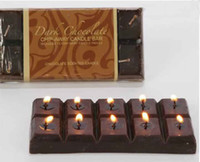 Wholesale 20Pcs Chocolate Square Aromatherapy Candle Craft Candles Christmas Gift FFF