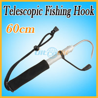 Wholesale 60cm Telescopic Sea Fishing Gaff Stainless Spear Hook