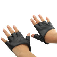 Wholesale Pole Dancing Gloves Half Finger Glove New Black