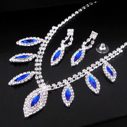 Wholesale Bridal Jewelry Crystal Earrings Necklaces Wedding Jewelry Set Bridal Voicedong Diamond Jewelry Suit