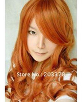 African-American Wigs Wig China (Mainland) Orange long curly hair Prom Wigs HEAT-RESISTANT FIBER Cosplay Halloween Party Wigs 5pcs lot mix