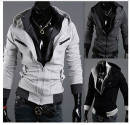Wholesale Men Hoodies CSOL Assassins Creed street fashion cardigan men s hoody grey