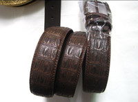 Wholesale Free DHL Fashion Genuine Leather Men s Belt Brown Gray Color Five styles to choose