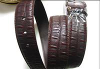 Wholesale 10pcs Fashion Genuine Leather Men s Belt Brown Gray Color Five styles to choose