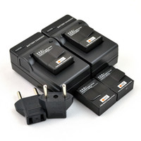 Wholesale 4PCS DSTE Battery AHDBT AHDBT DC137 Charger for GOPRO Hero3 Camera Helmet Surf Naked