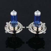 Wholesale New One Pair H4 P43T White Halogen Auto Car Head Light Bulbs Lamp V W W