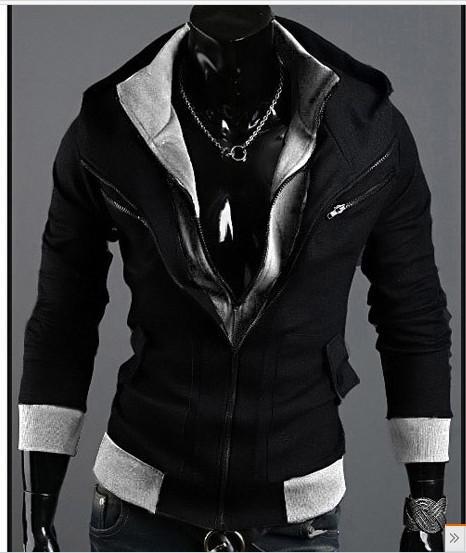 2015 Street Fashion Hoody Double Zipper Men Hoody Cool Hoodie Men Hoody Black From Qltrade_7, $23.46 | Dhgate.Com