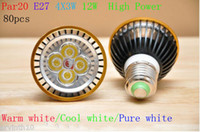 80X High Power E27 Par20 4x3w 12W Spotlight Led Lamp Led Lig...