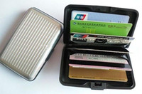Wholesale Aluminium Aluma CREDIT CARD HOLDER WALLET CASE PURSE METAL BUSINESS CARD PROTECT Factory Price
