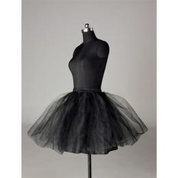 Wholesale black tulle mini skirt underskirt petticoat crinoline pannier underwear QC012