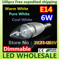 Wholesale x Dimmable W W E14 E27 High Power LED Candle Light Bulb Lamp Ceiling chandelier