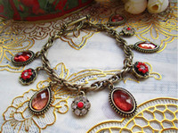 Wholesale Hot Selling Vintage Retro a faceted gemstone Fashion Bracelet Fashion Beautiful Bracelet