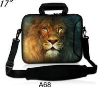 "Cheap 17""-17.1"" Rainproof Double Zipper Laptop Notebook Strap Sleeve Case Bag-Lion King-STKA68"