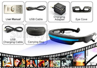 Wholesale Fashion Portable Eyewear quot Widescreen Multimedia Player Portable Video Glasses Virtual Theatre GB