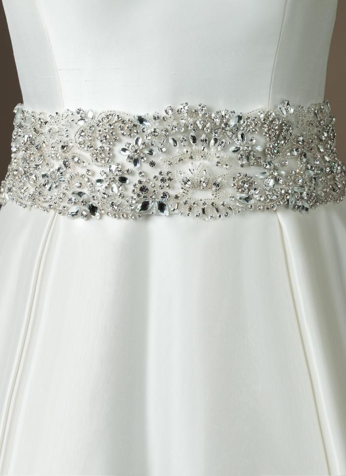 beads and wedding dress