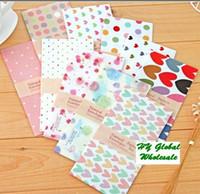 Copier Paper China (Mainland) Ordinary Paper Freeshipping! New 5pcs Set sweet dots heart design Stationery envelopes red gift envelopes wholesa