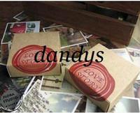 Copier Paper China (Mainland) H0224P Freeshipping! 70Pcs set Vintage love story gift card greeting Birthday wedding kraft paper box