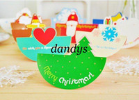 Wholesale Freeshipping New Christmas envelope greeting card Sticker Set with box packaging Cute