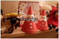 Wholesale Freeshipping Merry christmas stand Santa Claus series post card set New year sheets cards per s