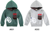 Wholesale Boys Hoodies new design children Hoodies boys outwears single sided velvet with pocket