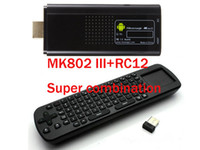 Wholesale Rikomagic MK802 III Android DUAL CORE MINI PC GB Memory Air Fly Mouse RC12