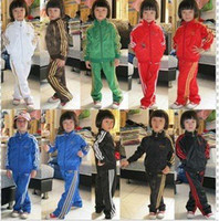 Wholesale Boys and Girls Track Suit Children Sport Suit Coat Pant