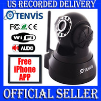 Indoor Pan/Tilt CMOS Tenvis Official Pan Tilt Indoor Camera WIFI Wireless IR Security IP Camera JPT3815W black
