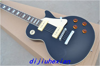 Wholesale Mahogany body black color OEM Electric Guitar