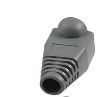Wholesale 157pcs x Network Ethernet Cable Boot Cap Cover Gray for RJ45 Connectors AC04