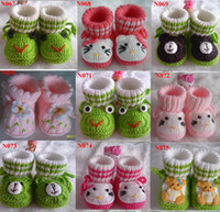 Wholesale Handmade Crochet Shoes Booties Bootees Baby Newborn Adorable Baby Baby Booties Crocheted MOS