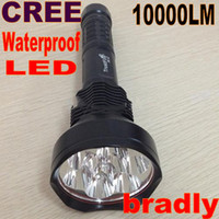 Wholesale TrustFire Lumens CREE XM L T6 LED PC Mode Flashlight Waterproof High Power Torch