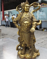 Wholesale 10 Chinese Classic Brass Copper famous Whitfield Wei Tuo warrior God Statue