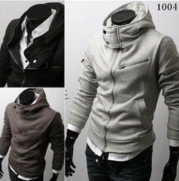 Wholesale 2013 autumn men s classic new slim fit fashion design casual hoody hoodies sweatshirts size M XXL