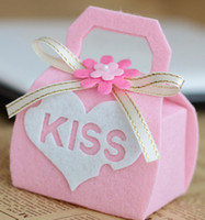 Wholesale Kiss LOVE wedding favor Rose pink box High Quality Paper Gift Boxes for candy jewely flower HOT Sale