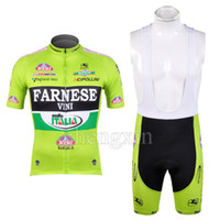 Wholesale New farnese vini Bicycle Bike Team Shorts Sleeve Cycling Wear Jersey and BIB Shorts S XL