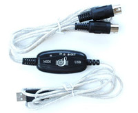 Wholesale 11pcs USB IN OUT MIDI Interface Cable Converter PC to Music Keyboard Adapter Cord AC12