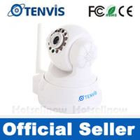 Wholesale Tenvis IR Wireless WiFi Wlan IP Camera Way Audio LED Night Vision DDNS BLK WHT