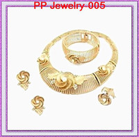 Wholesale High Quality K Gold Plated Elegant Wedding Jewelry Sets Bridal Dress Jewelry